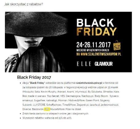 KOI bierze udział wBlack Friday