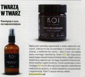 Kosmetyki dla mężczyzn KOI w magazynie Esquire
