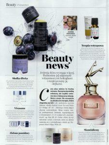 Dział Beauty a w nim KOI Cosmetics w gazecie