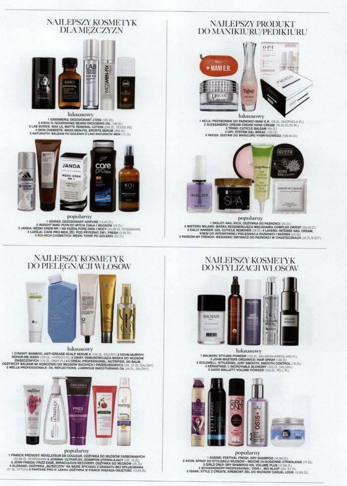Glamour najlepsze kosmetyki wkonkursie Glammies