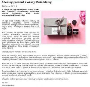 Artykuł o KOI Cosmetics w dlalejdis.pl