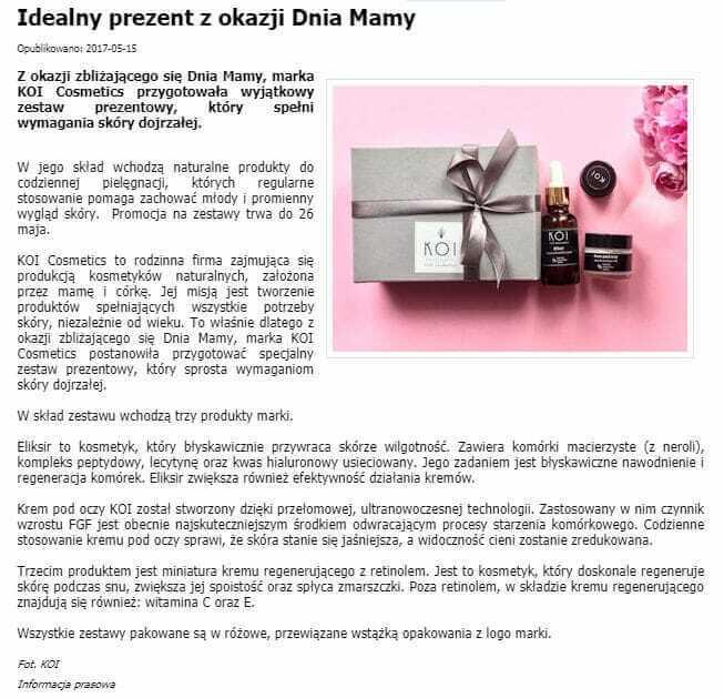 Artykuł oKOI Cosmetics wdlalejdis.pl