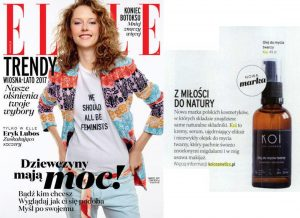 Olej do mycia twarzy KOI w magazynie Elle