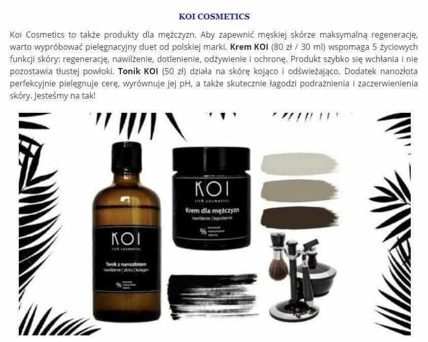 KOI Cosmetics wLaModeInfo artykuł onas, przeczytaj