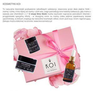 Artykuł o KOI Cosmetics w portalu milionkobiet.pl