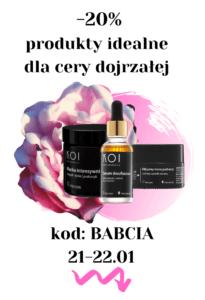 Promocja na produkty kosmetyczne dla cery dojrzałej na dzień babci