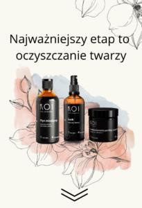 Oczyszczanie twarzy z KOI Cosmetics