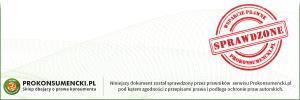 KOI regulaminy zatwierdzone przez portal prokonsumencki.pl