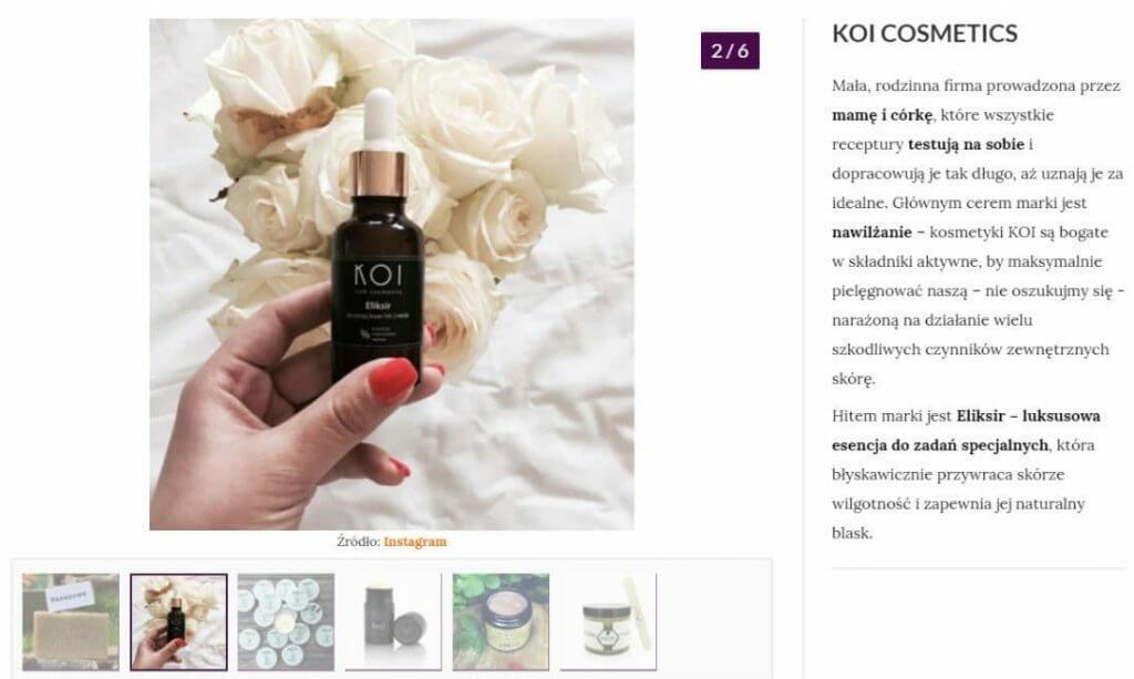 KOI Cosmetics ieliksir nawilżający wwizaż.pl