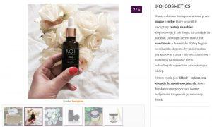 KOI Cosmetics i eliksir nawilżający w wizaż.pl