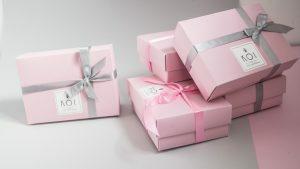 Różowe pudełka KOI